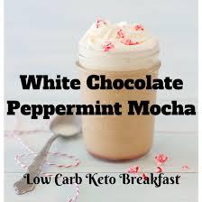peppermint mocha white chocolate