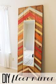 diy full length floor mirror