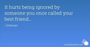 being ignored quotes page