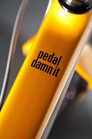 Decals Stickers Sporting Goods Orange Pedal Damn It Niner Bike Mountain Decal Sticker