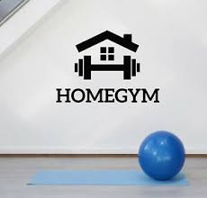 Vinyl Wall Decal Home Gym Fitness Motivation Sports Room Decor Stickers Ig5118 Ebay