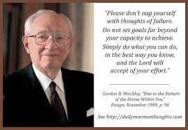 daily thought from modern prophets gordon b hinckley on doing