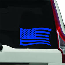 Winston Porter Distressed American Flag Vinyl Window Decal Wayfair