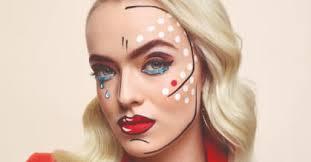 pop art makeup look is poppin