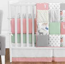 woodsy c mint and grey crib