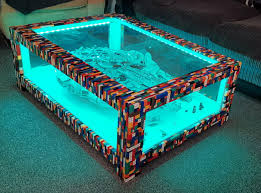this guy made a coffee table for his