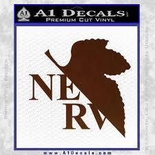 Evangelion Nerv Logo Decal Sticker A1 Decals