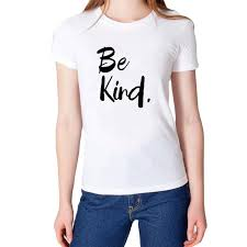 women s tee be kind slogan t shirt