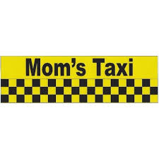 10in X 3in Funny Mom S Taxi Vinyl Bumper Sticker Decal Car Stickers Window Decals Walmart Com Walmart Com