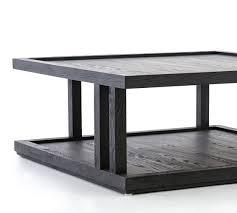 modern black oak coffee table pottery
