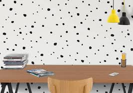 Polka Dot Vinyl Wall Decals Paint Hand Drawn Circles Etsy