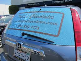 Rear Window Advertising Wraps