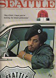 """reverieseattle: Aaron Dixon, leader of the Seattle Black Panther party,  1968 """"Hey Chief, I hear you're look… 