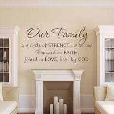 Our Family A Circle Of Strength And Love Founded In Faith Joined In Love Kept By God Family Wall Decal 27 9cm X 55 9cm Circles Wall Decal Circles Wallfamily Wall Decal Aliexpress