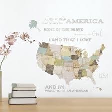 Winston Porter Us Map Wall Decal Wayfair