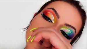 cute colorful eye makeup ideas