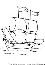 Kolorowanki dla dzieci - Drukowanie: Statki i samoloty - Statek