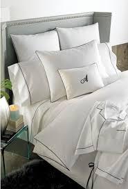 white bedding black trim for master