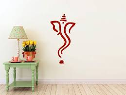Amazon Com Abstract Ganesh Wall Decal Dark Red Matte Measures 43 H X 22 W Home Kitchen