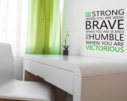 Be Strong Quotes Wall Decal Motivational Vinyl Art Stickers