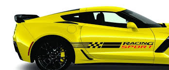 Product Corvette Racing Sport Stripes Vinyl Decals C3 C4 C5 C6 C7 Zo6 Zr1 Stingray More