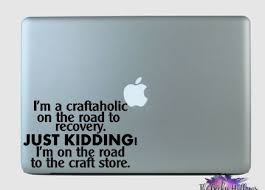 I M A Craftaholic Craft Small Business Bow Maker Ear Maker Car Window Macbook Laptop Vinyl Decal Sticker