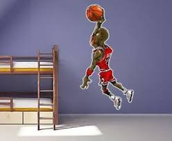 3 Ft Michael Jordan Wall Decal Air Jordan Basketball Character Vinyl Decal Stick 715201040648 Ebay