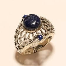 lapis lazuli ring 925 sterling silver