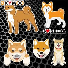 Cute Japan Shiba Car Stickers Funny Family Friend Animal Pet Dogs Home Decoration Decals 3m Car Sticker Car Sticker Funnystickers Funny Aliexpress