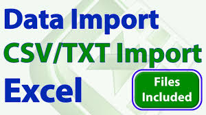 import csv txt file into excel