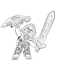 Kids N Fun Kleurplaat Lego Nexo Knights Clay