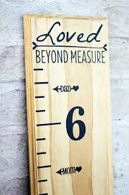 Height Marker For Growth Chart Ruler Mom Dad Vinyl Decal Etsy