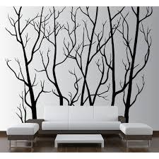 Large Wall Vinyl Tree Forest Decal Removable Sticker With Birds 96 8 Feet Tall X 113 Wide 1111 Matte Black Walmart Com Walmart Com