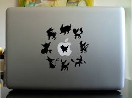Pokemon Eevee Evolutions Anime Decal For Macbook Laptop Etsy