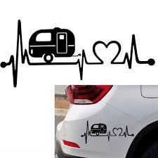 Car Sticker Camper Travel Trailer Hiker Heartbeat Decal Sticker Hiking Art Hot Dajiu Wish