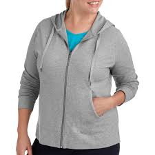 womens plus size dri more zip up hoo