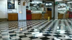 polish and mainn a vct garage floor