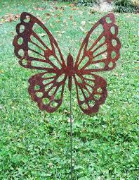 erfly garden stake lawn ornament