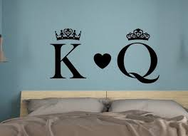 King And Queen Wall Decals Bedroom Wall Art His And Hers Couples Wall Art Monogram Decal Name Wall Decal King Queen Decor Wall Decor In 2020 Name Wall Decals Wall Decals
