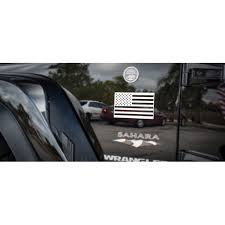 Jeep Stainless Steel American Flag Emblem Decal Driver S Passenger S Side Walmart Com Walmart Com