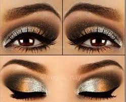 prom makeup for black and gold dress