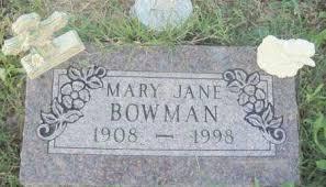 BOWMAN, MARY JANE - Baxter County, Arkansas | MARY JANE BOWMAN - Arkansas  Gravestone Photos