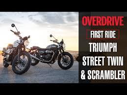 triumph street twin street scrambler