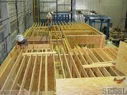 5 installation of floor joists during