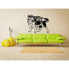Shop Siberian Husky Dog Love Couple Wall Art Sticker Decal Overstock 11342110