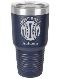 Softball Mom Personalized Tumbler Style 1