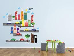 Amazon Com French Bull City Scene Wall Decal City Wall Decals French Bull City Wall Decals City Theme Wall Decor Vinyl Sticker 40 X 40 Baby