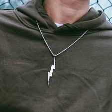 jewelry for men women lightning bolt