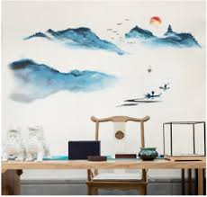 Painting Wall Stickers Interior Design Mountains Decals For Living Room Decor Ebay