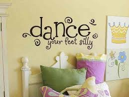 Dance Wall Decal Dance Your Feet Silly Girls Room Wall Decal Etsy